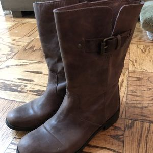 J.Crew Short Leather Boots Sz. 6 - Brown - GUC